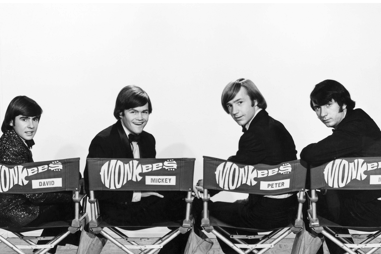 David Jones, Micky Dolenz, Peter Tork e Michael Nesmith, integrantes da banda 'The Monkees'