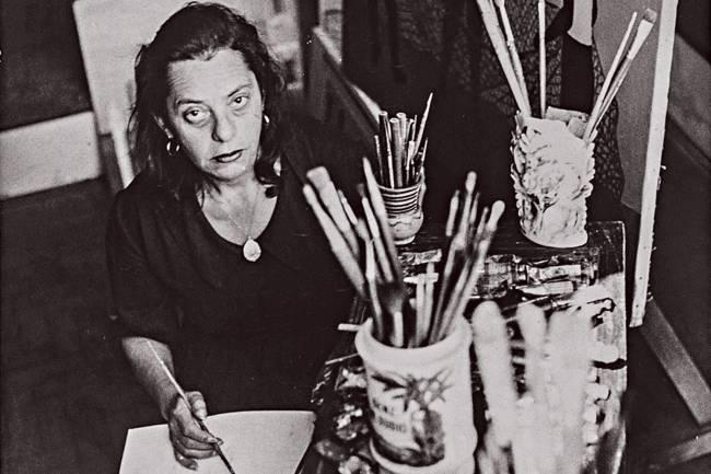 """FOLCLORISMO PUERIL - A paulista Djanira (acima) e a tela Vendedora de Flores (1947): de boia-fria e costureira a artista """"do povo"""""""
