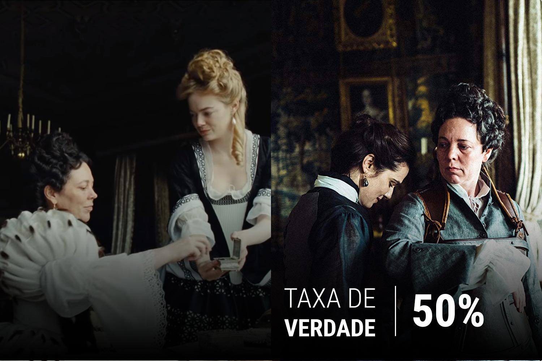 Olivia Colman, Emma Stone e Rachel Weisz no longa 'A Favorita', de Yorgos Lanthimos