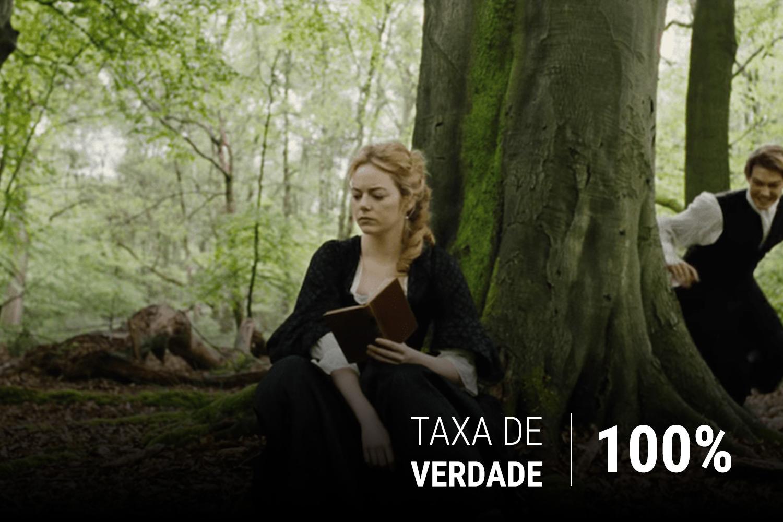 Emma Stone em cena de 'A Favorita', de Yorgos Lanthimos