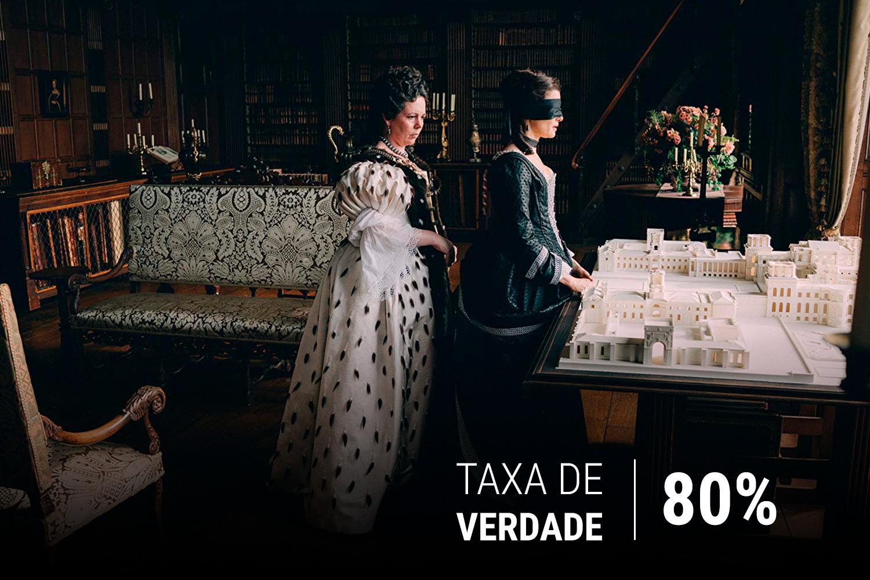 Olivia Colman e Rachel Weisz em cena do longa 'A Favorita', de Yorgos Lanthimos