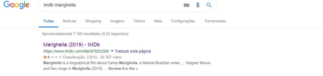 Filme 'Marighella' tem mais de 26 mil avaliações no IMDB, mesmo sem ter estreado no Brasil