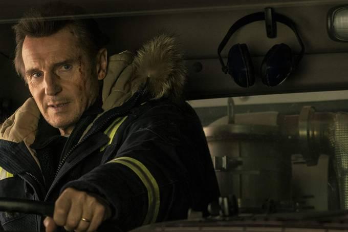 Liam Neeson em cena de 'Vingança a Sangue-Frio', de Hans Petter Moland