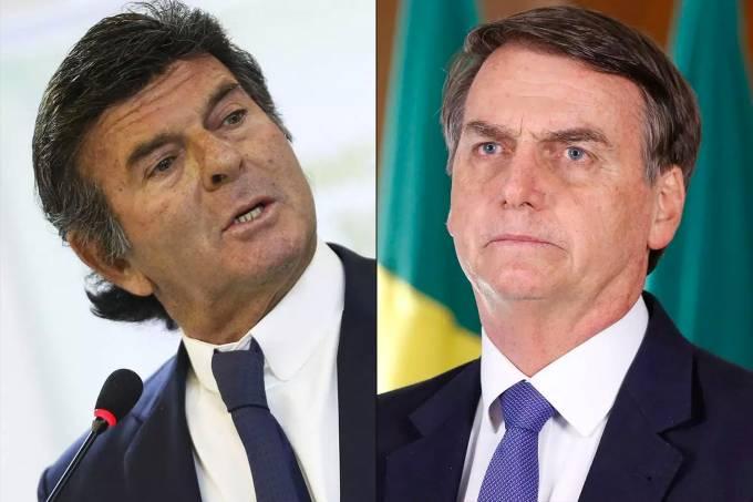Luiz Fux e Jair Bolsonaro
