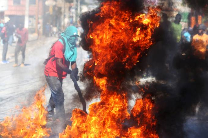 Protestos no Haiti