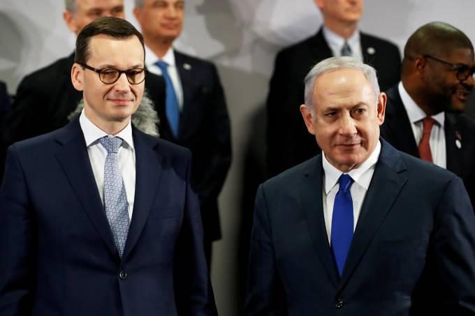Mateusz Morawiecki e Benjamin Netanyahu
