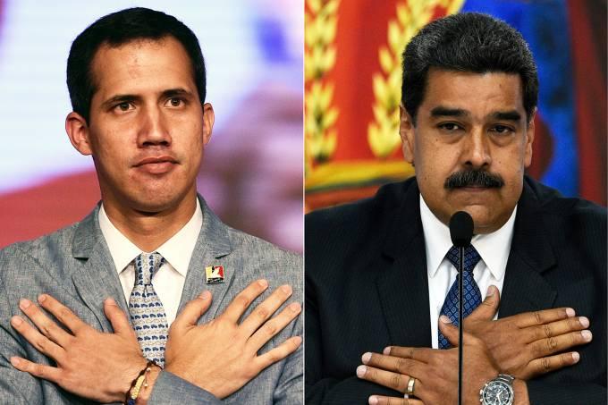 Juan Guaidó e Nicolás Maduro