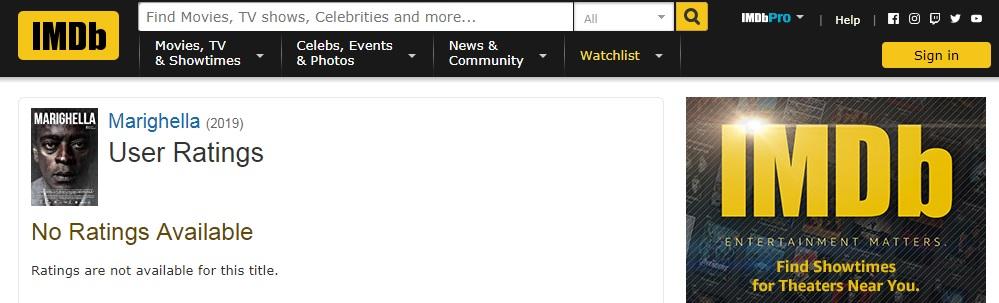 No IMDB, 'Marighella' amanhece sem nota e com todos os comentários deletados