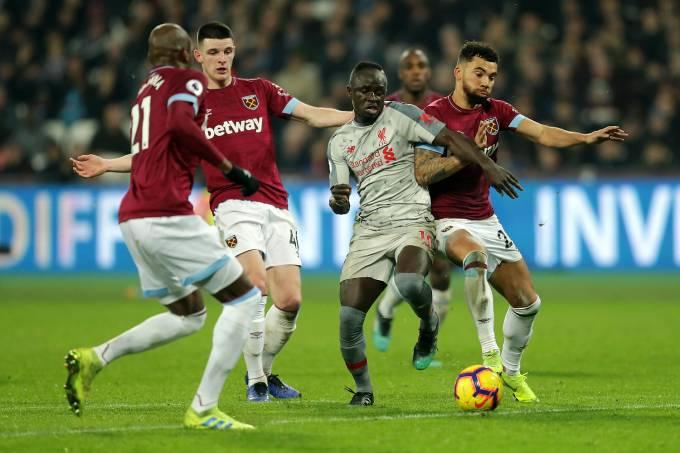 Sadio Mané marca para o Liverpool mas não evita empate com o West Ham United em partida válida pelo Campeonato Inglês em Londres – 4/2/2019