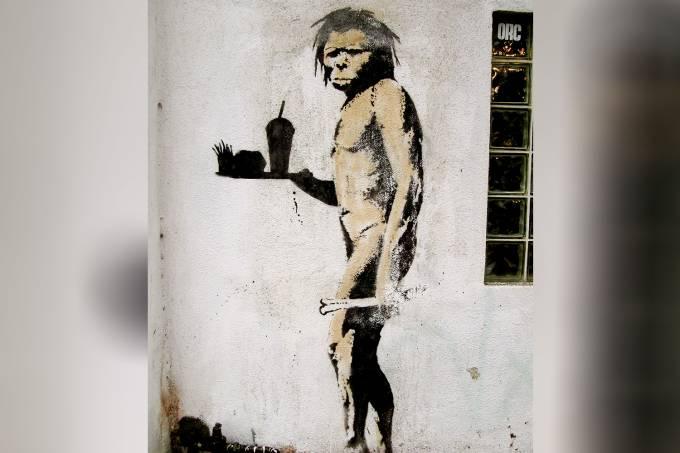 The Caveman – Banksy