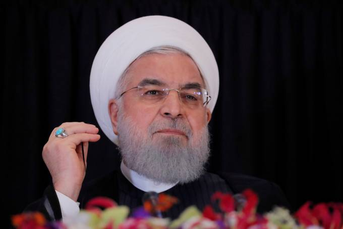 FILE PHOTO: Iran's President Hassan Rouhani listens during a news conference on the sidelines of the General Assembly in New York