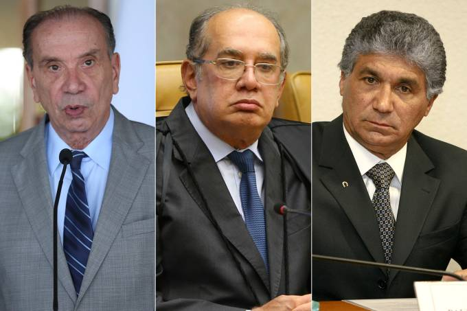 Aloysio Nunes, Gilmar Mendes e Paulo Preto