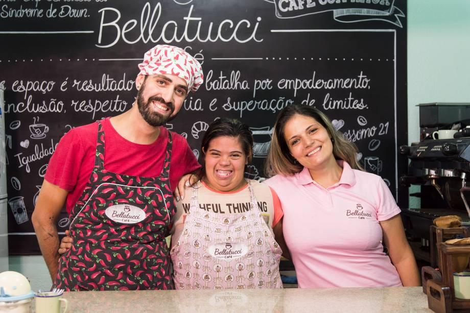 "<span style=""font-weight:400;"">Douglas Batetucci, Jéssica Pereira e Priscila Della Bella, proprietária e sócio-investidores </span>"
