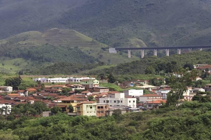 Vista parcial da cidade de Barão de Cocais (MG)