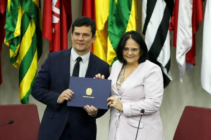 Sergio Moro e Damares Alves