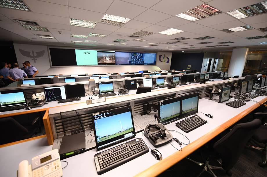 Sala de controle do Centro de Lançamento de Alcântara, localizado no Maranhão - 14/09/2018