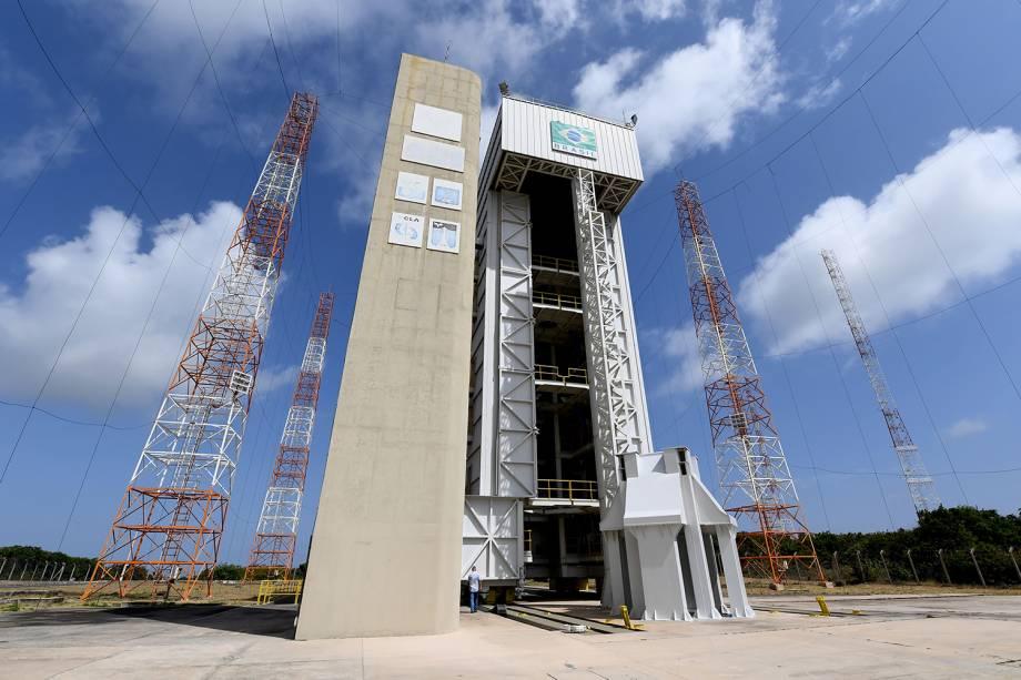 Base de lançamento de foguetes localizado no CLA - Centro de Lançamento de Alcântara (MA) - 14/09/2018
