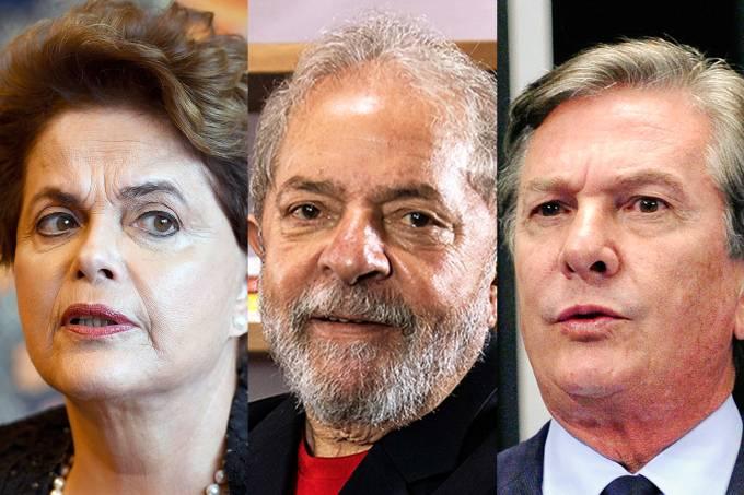Dilma Rousseff, Lula e Fernando Collor