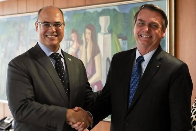Jair Bolsonaro e Wilson Witzel, ex-governador do Rio, no tempo em que eram amigos —