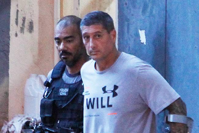 O policial reformado Ronnie Lessa, réu pela morte da vereadora Marielle Franco e o motorista Anderson Gomes