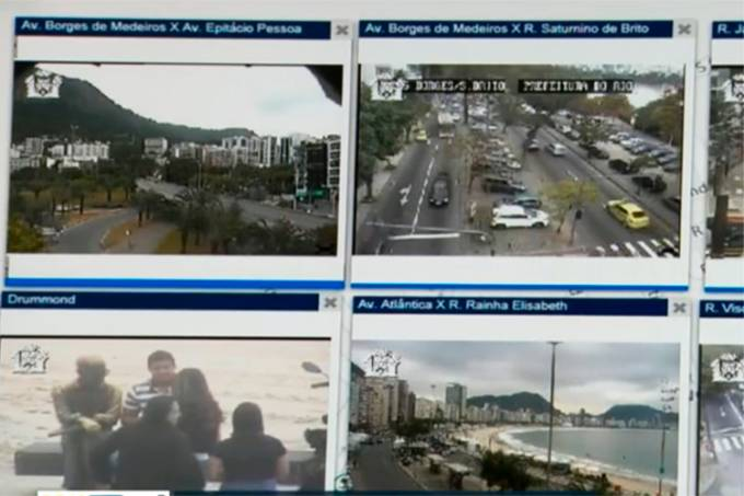 Câmeras de reconhecimento facial em Copacabana