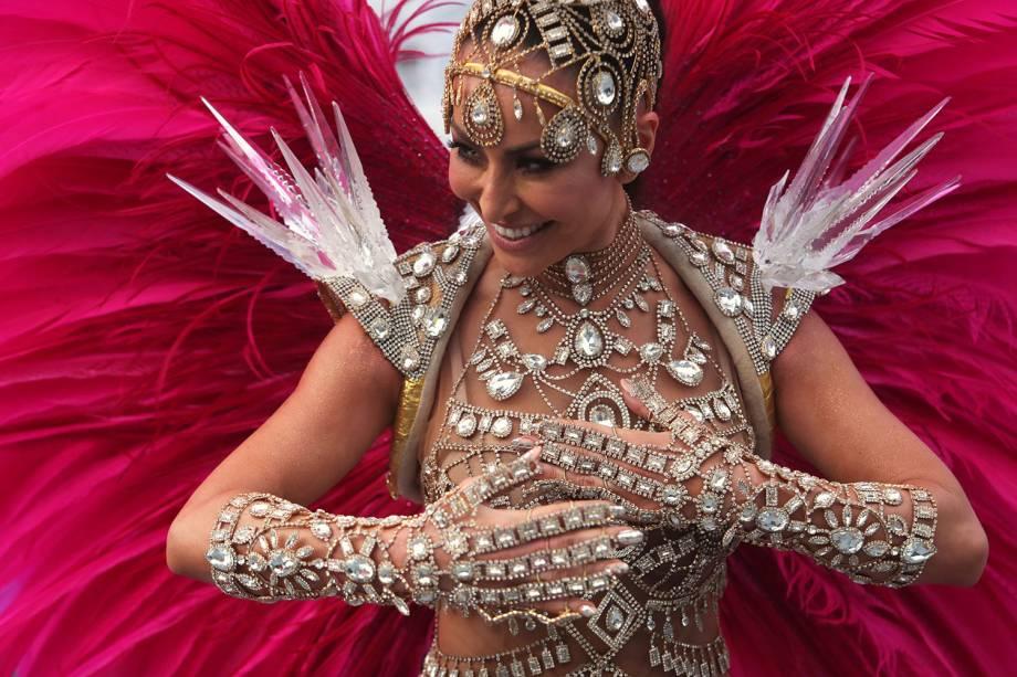 Sabrina Sato, rainha de bateria da Gaviões da Fiel, desfila durante a segunda noite de carnaval em São Paulo - 03/03/2019