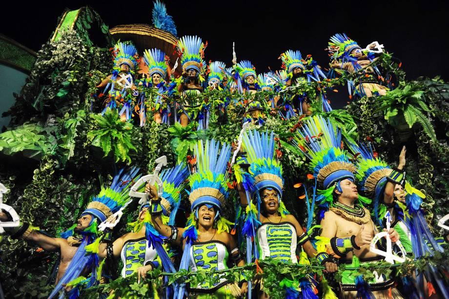 Destaques do carro abre-alas da Mangueira no segundo dia de desfile na Marquês de Sapucaí - 05/03/2019