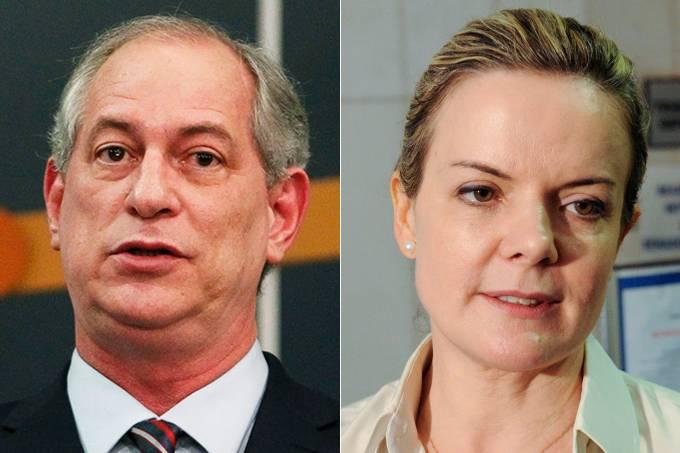 Ciro Gomes e Gleisi Hoffmann