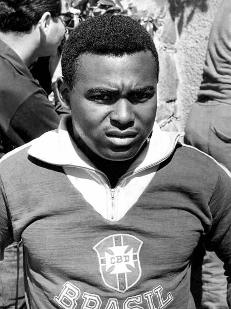 1º de junho de 1962 - O jogador Coutinho, da seleção brasileira, na Copa de 62, no Chile