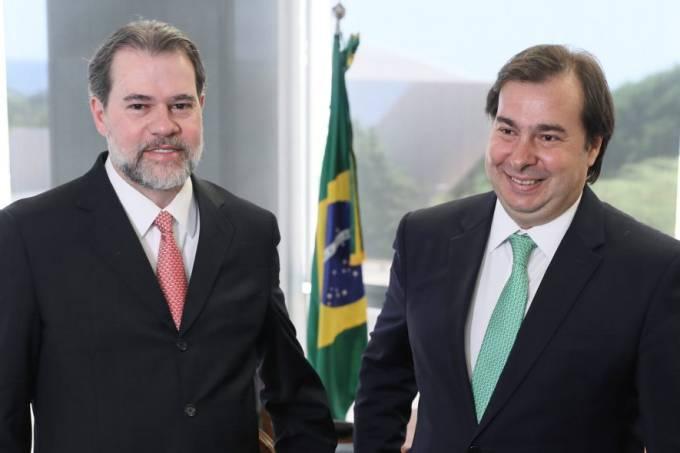 Dias Toffoli e Rodrigo Maia