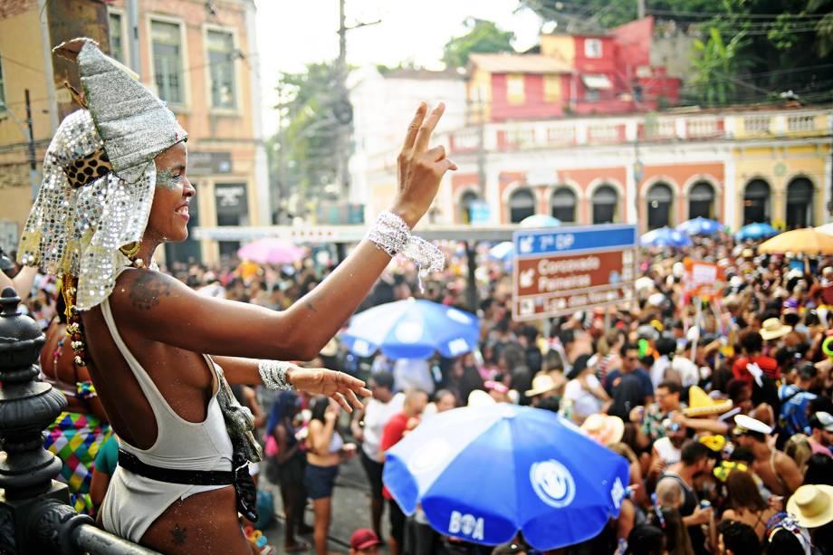 Tradicional bloco 'Carmelitas', desfila nas ruas de Santa Tereza, no Rio de Janeiro - 01/03/2019