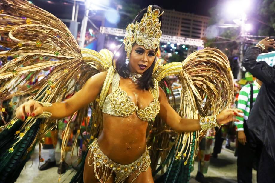 Flávia Lyra, rainha de bateria da escola de samba Imperatriz Leopoldinense - 04/03/2019