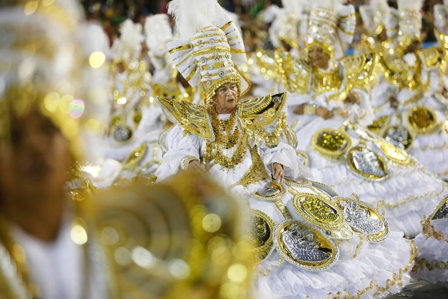 Ala das baianas da Imperatriz Leopoldinense, durante desfile no Sambódromo da Marquês de Sapucaí - 04/03/2019