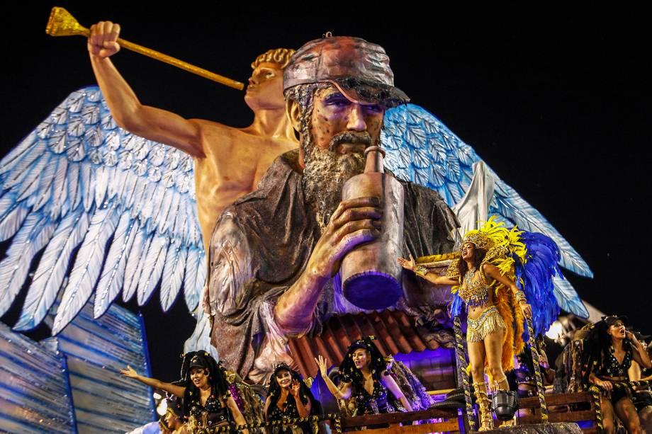 Desfile da escola de samba Águia de Ouro, no Sambódromo do Anhembi, em São Paulo (SP), válida pelo Grupo Especial do Carnaval - 02/03/2019