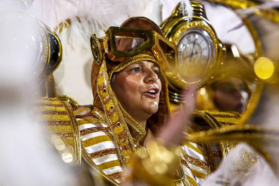 A escola de samba Dragões da Real é a segunda a desfilar no Sambódromo do Anhembi, em São Paulo (SP) - 03/03/2019