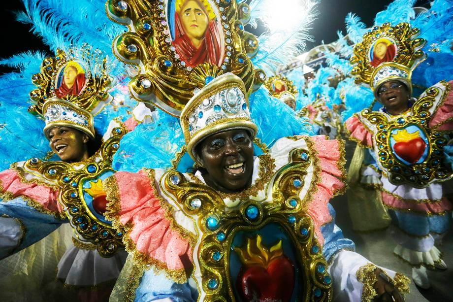 Com o enredo 'Na Madureira Moderníssima, hei sempre de ouvir cantar uma Sábia', a escola de samba Portela desfila na Marquês de Sapucaí - 05/03/2019