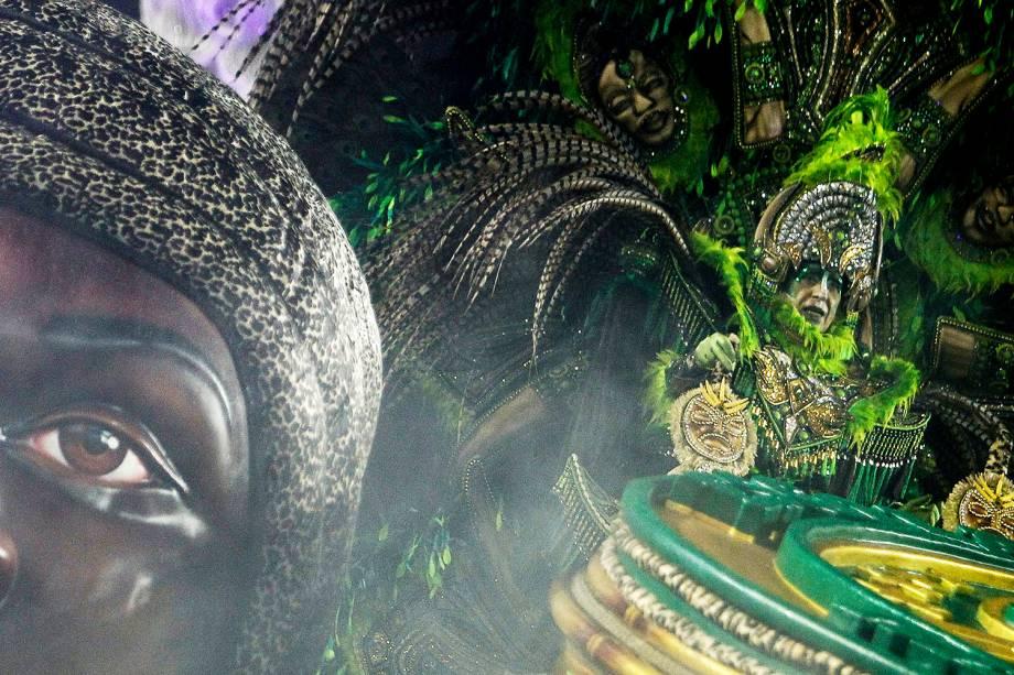 Com o enredo 'Oxalá, salve a princesa! A saga de uma guerreira negra', a escola de samba Mancha Verde desfila no Sambódromo do Anhembi, em São Paulo (SP) - 02/03/2019
