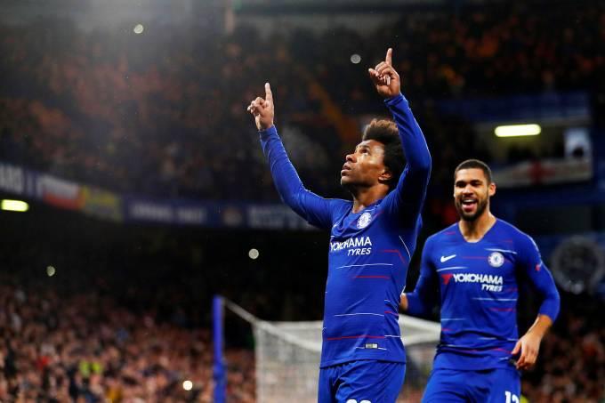 Liga Europa – Chelsea x Dínamo de Kiev – Willian
