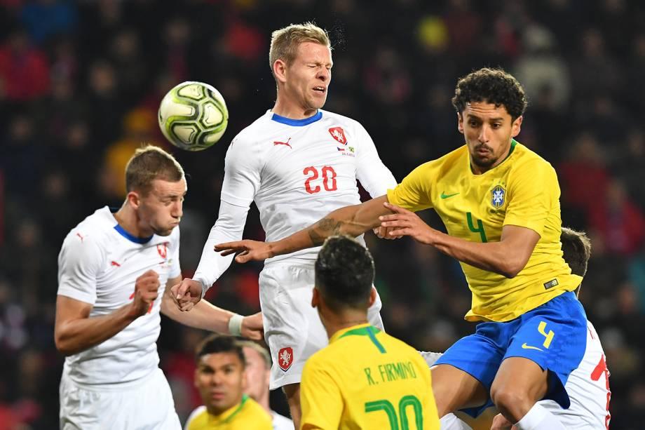 Partida amistosa entre Brasil e República Checa, realizada em Praga - 26/03/2019
