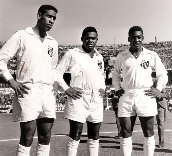 Mengálvio, Coutinho e Pelé em 1957
