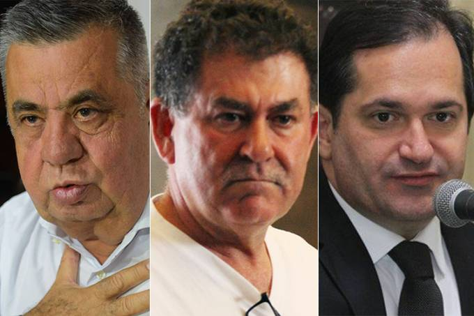 Jorge Picciani, Paulo Melo e Edson Albertassi