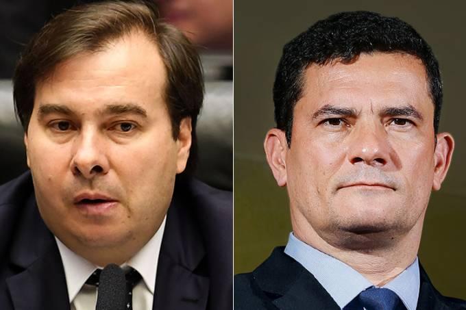 Rodrigo Maia e Sergio Moro