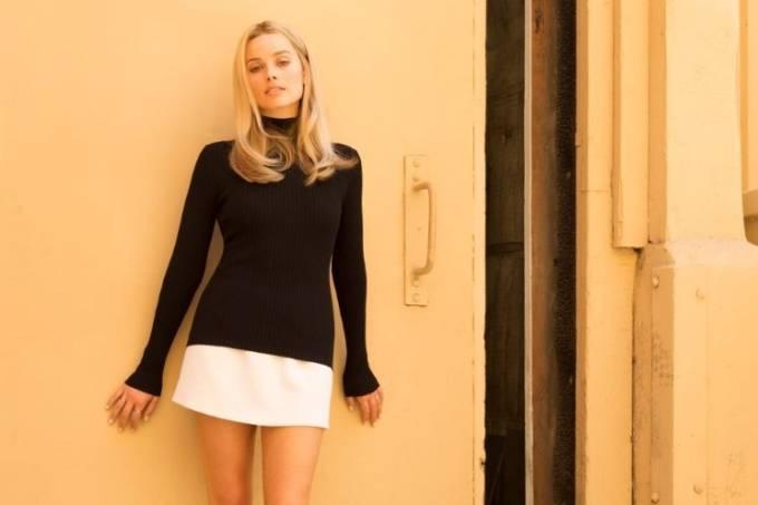 Margot Robbie interpreta a atriz Sharon Tate no filme 'Era Uma Vez em Hollywood', de Quentin Tarantino