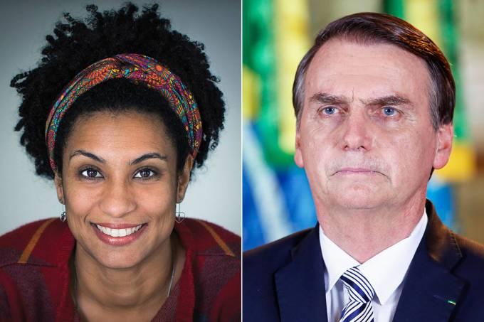 Marielle Franco e Jair Bolsonaro