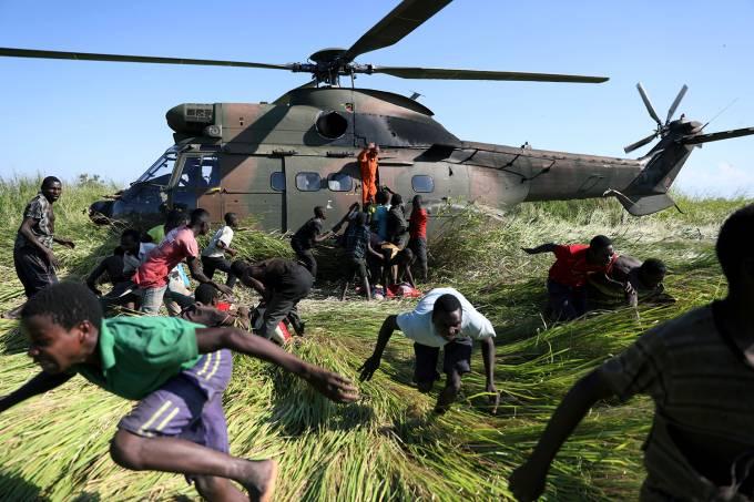 Resquícios do ciclone Idai em Moçambique
