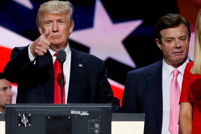 Donald Trump e Paul Manafort