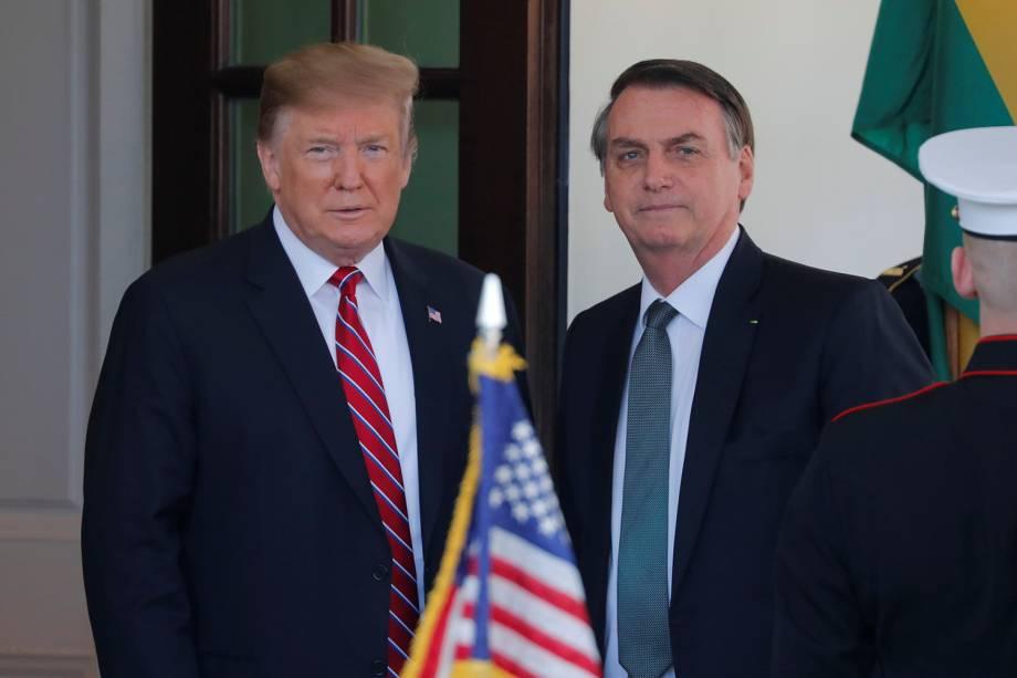 Donald Trump se encontra com Jair Bolsonaro na Casa Branca, em Washington - 19/03/2019