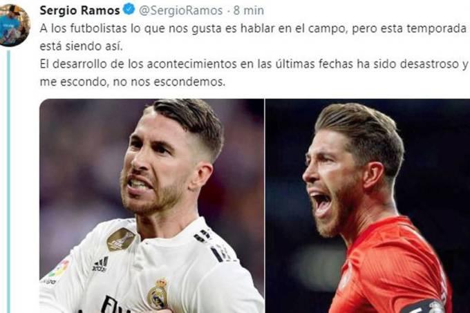 Sergio Ramos no Twitter