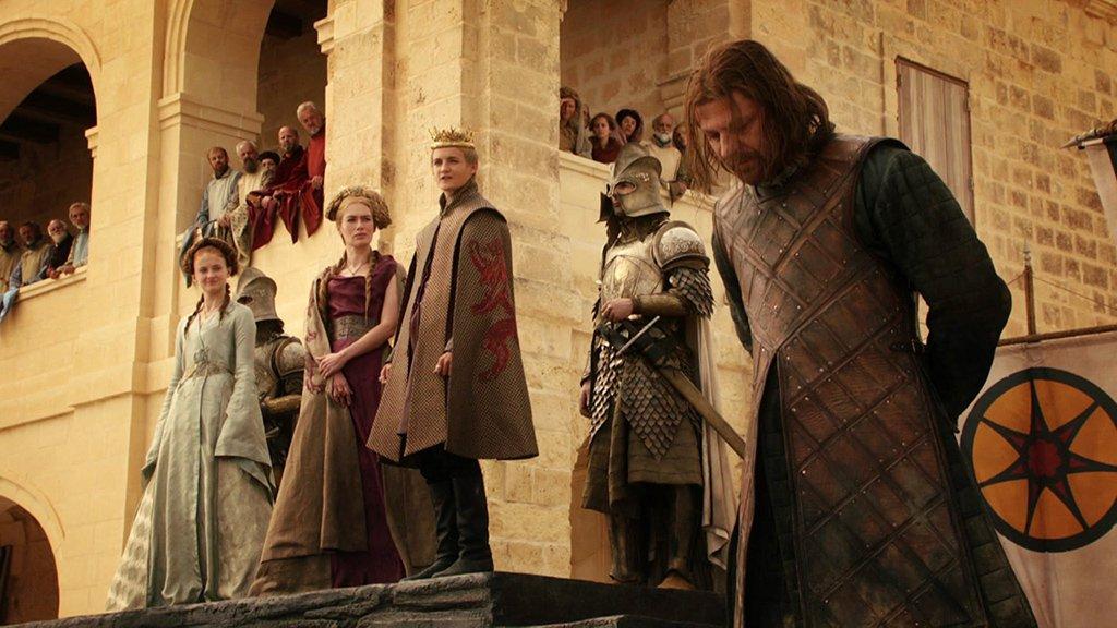Sean Bean em cena do episódio 9 da temporada 1 de' Game of Thrones'