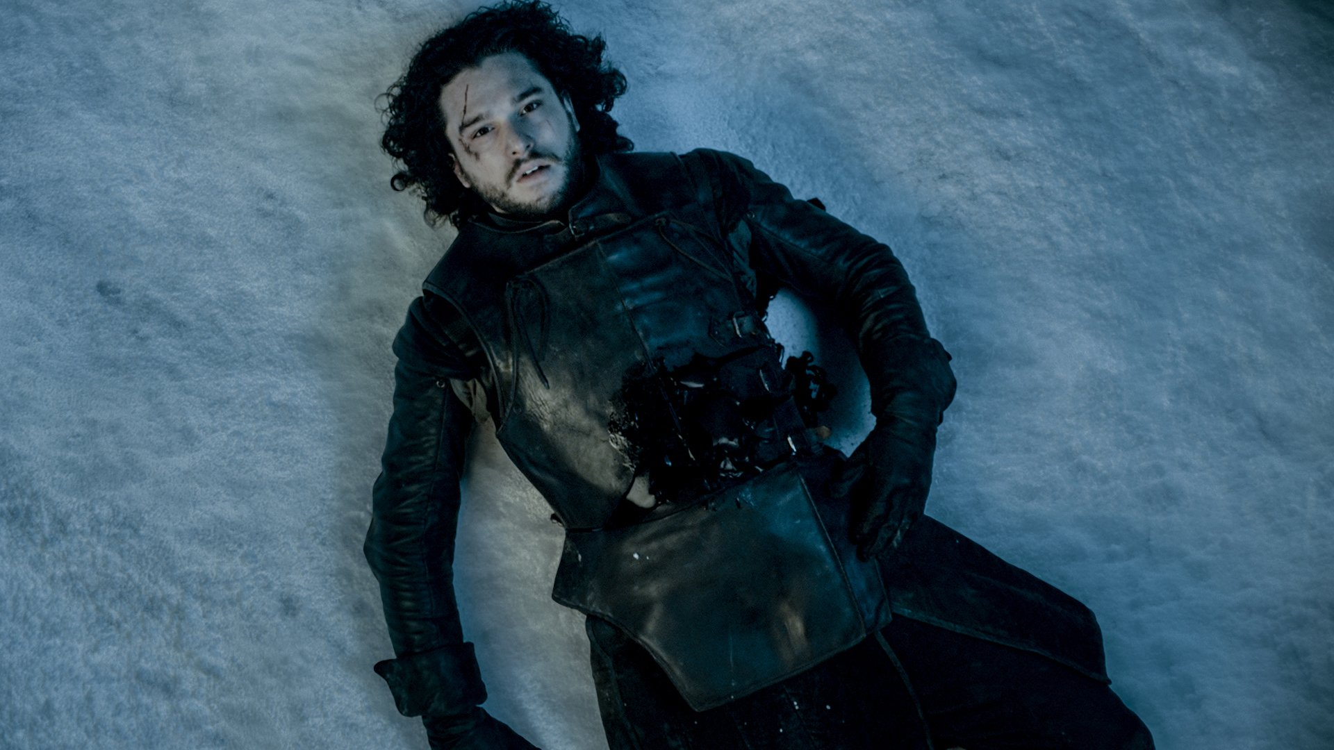 Kit Harrington em cena do episódio 10 da temporada 5 de' Game of Thrones'